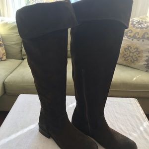 Frye back suede over-the-knee boots